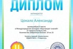 Диплом 2 степени для победителей konkurs.info №8550